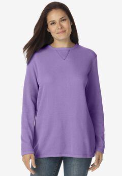 Thermal Sweatshirt, SOFT LAVENDER