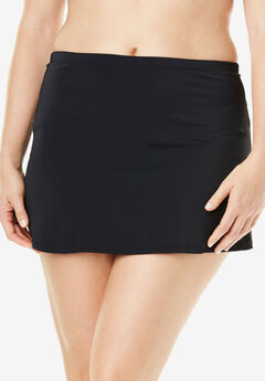 Side-Slit Swim Skirt with Built-in Brief by Swim 365,
