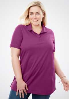 Polo Perfect Tee, MAGENTA BERRY