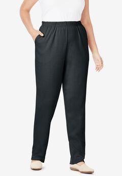 7-Day Knit Straight Leg Pant, BLACK