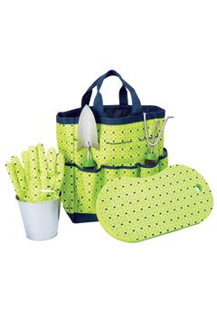 Garden tote set, GREEN PRINT, hi-res