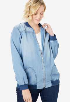 Denim Bomber Jacket,