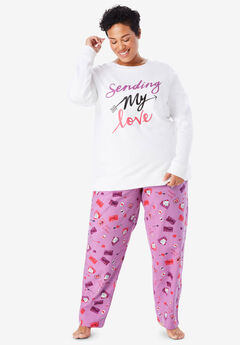 31817a2035024 Fleece Sweatshirt   Pant Pajama Set by Dreams   Co.®