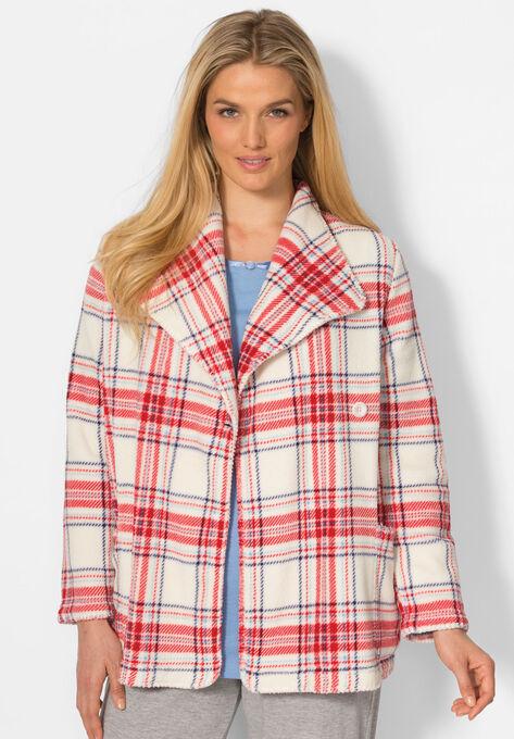 ffa01e8669b031 Printed Fleece Bed Jacket by Dreams & Co.®| Plus Size Sleep | Woman ...