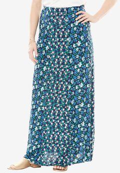 Spliced Maxi Skirt by Chelsea Studio®, BLUE PETAL POP, hi-res