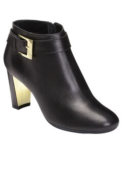 Third Ave Booties by Aerosoles®, BLACK LEATHER, hi-res