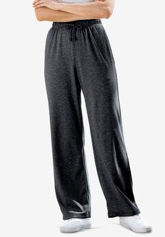 Sport Knit Straight Leg Pant, HEATHER CHARCOAL