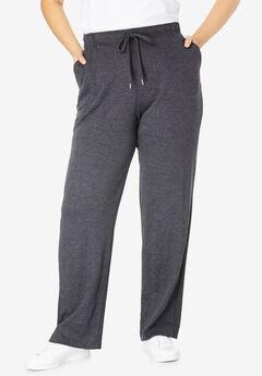 Sport Knit Straight Leg Pant, HEATHER CHARCOAL, hi-res