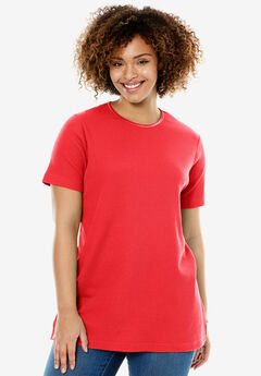 Satin-Trimmed Crewneck Thermal Tee,