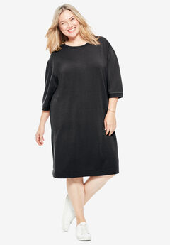 Fleece Sweatshirt Dress,