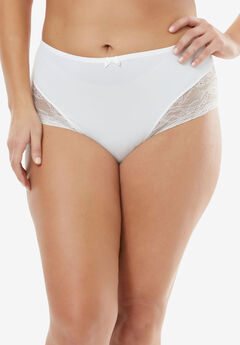 Lace Full-Cut Brief by Amoureuse®, IVORY, hi-res