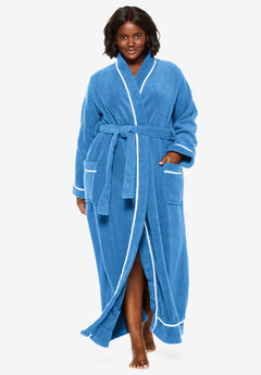Spa Terry Long Wrap Robe by Dreams & Co.®, CORNFLOWER BLUE