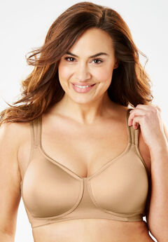 Microfiber Wireless T-Shirt Bra by Comfort Choice®, NUDE, hi-res