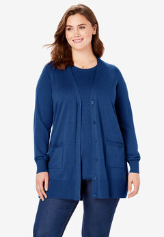The boyfriend cardigan, EVENING BLUE, hi-res