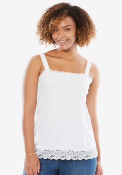 Lace-Trimmmed Tank Top,
