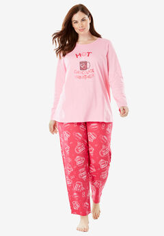 Long Sleeve Knit PJ Set by Dreams & Co.®,