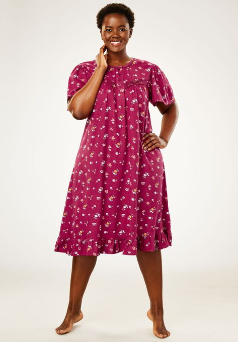Cotton Print Nightgown by Dreams & Co.® | Plus Size Sleep Gowns ...