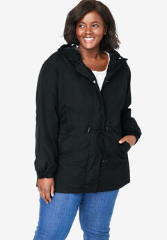 High-Low Hooded Taslon® Jacket,