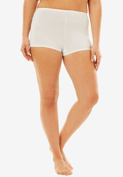 Stretch Microfiber Boyshort By Comfort Choice®, WHITE