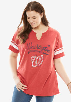 MLB Team Notch-Neck Tee, NATIONALS