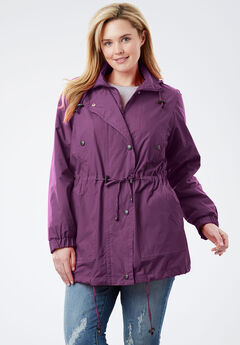 Weather-Resistant Taslon® Anorak, PLUM PURPLE