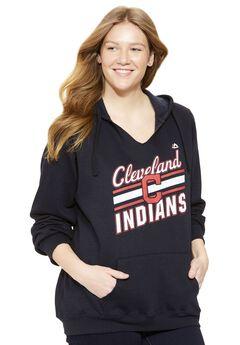 MLB® Fleece notch V-neck hoodie, INDIANS, hi-res
