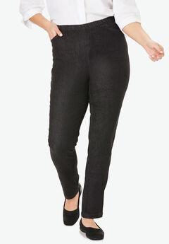 Straight Leg Fineline Jean, BLACK DENIM