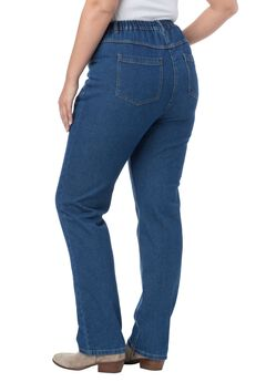 Cotton Straight Leg Jean, , hi-res