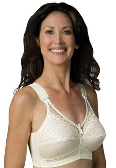 Sheer Comfort Back Hook Mastectomy Bra by Jodee , IVORY, hi-res
