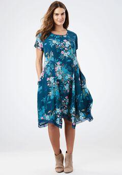 The Flowy Dress, BLUE TEAL BOUQUET