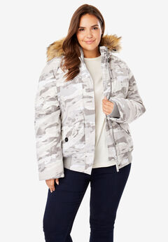 Hooded Arctic Bomber Jacket,