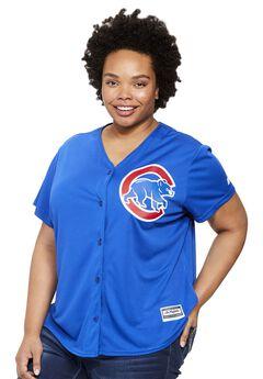 MLB® V-neck jersey tee , CUBS, hi-res