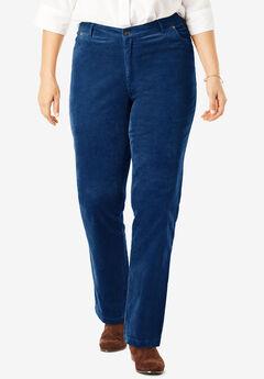 Corduroy Straight Leg Stretch Pant, EVENING BLUE