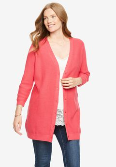 Seed Stitch V-Neck Cardigan,