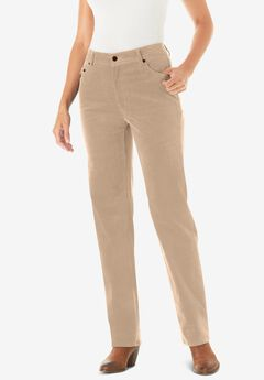 Corduroy Straight Leg Stretch Pant,
