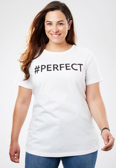 #PERFECT Tee, WHITE, hi-res