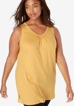 Perfect Sleeveless V-Neck Tunic,