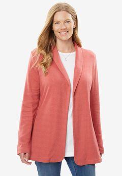 7-Day Knit Jacket, HEATHER STRAWBERRY ROSE, hi-res