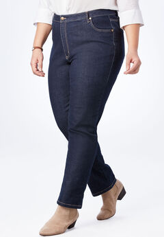 Straight Leg Stretch Jean, INDIGO