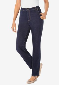 Straight Leg Stretch Jean, INDIGO