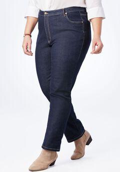 Straight Leg Stretch Jean, INDIGO, hi-res
