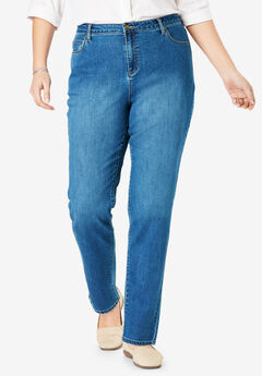 Perfect Straight Leg Jean, MEDIUM STONEWASH SANDED
