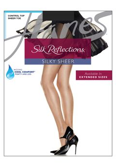 Silk Reflections Control Top Sheer Toe Pantyhose,