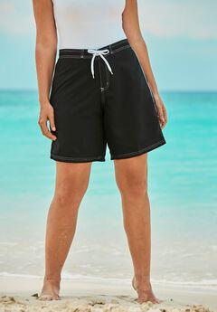 Contrast-Trim Long Boardshort by Swim 365,
