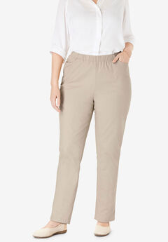 Straight Leg Fineline Jean, NATURAL KHAKI