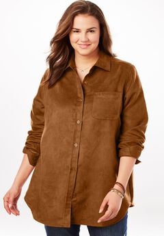 Soft Moleskin Button Down Shirt,