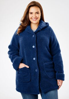 Hooded berber jacket,