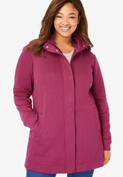 Fleece Zip Front Jacket,