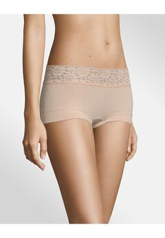 Cotton Dream® Boyshort With Lace ,