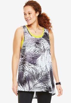 Layered look mesh bra tank by fullbeauty SPORT®,